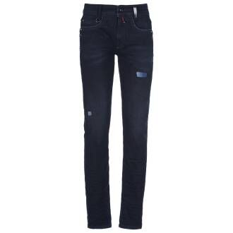 High trousers ASHBY 702201 jeans blue at Penninkhoffashion.com
