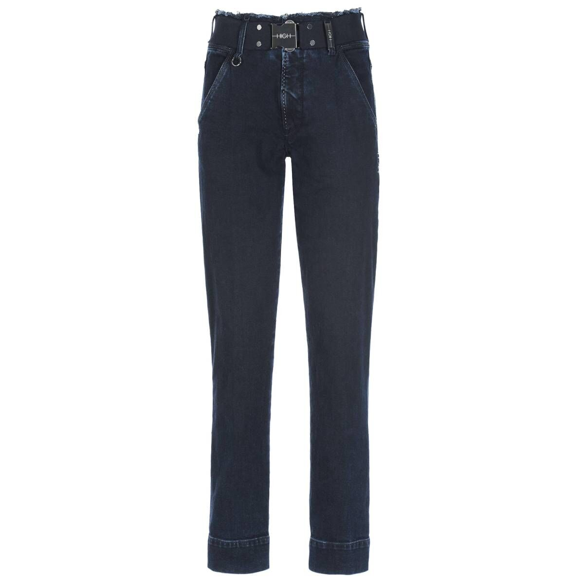 High trousers VERVE 702199 jeans blue at Penninkhoffashion.com