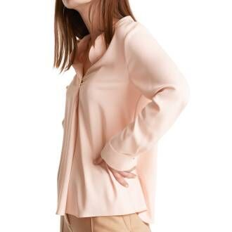 Marc Cain  blouses MC5124 W01 Nude by Penninkhoffashion.com