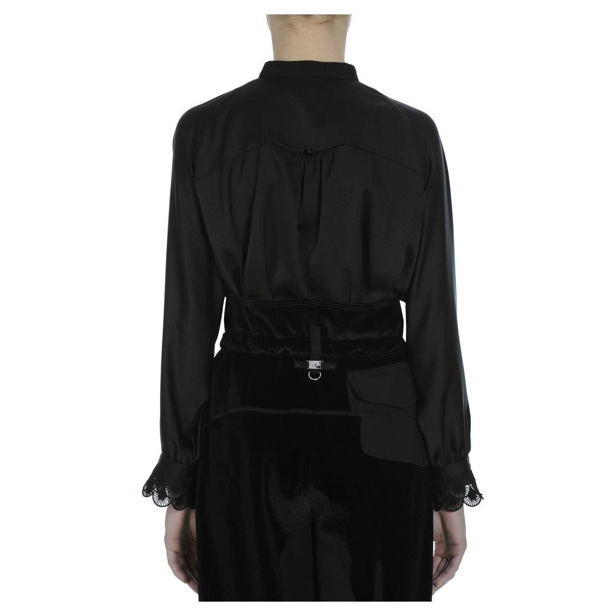 High blouses NICETY S50107 Black by Penninkhoffashion.com