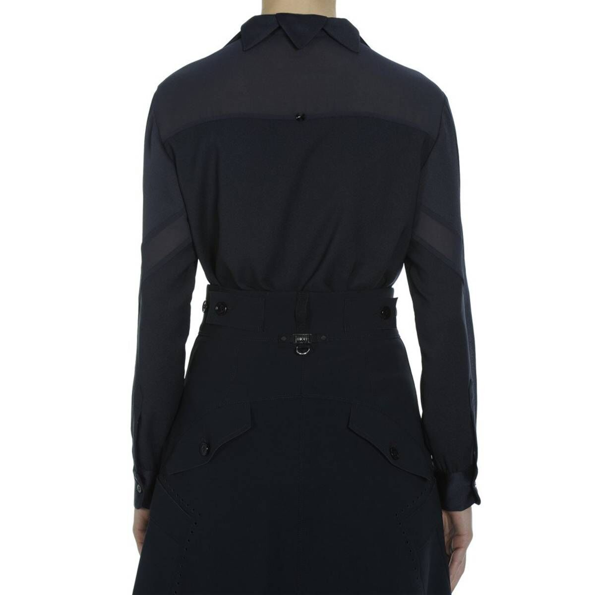 High blouses OPTION S50094 navy blue at Penninkhoffashion.com