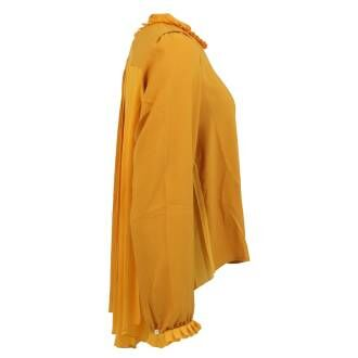 High blouses EQUATE S50092 Ocher yellow by Penninkhoffashion.com