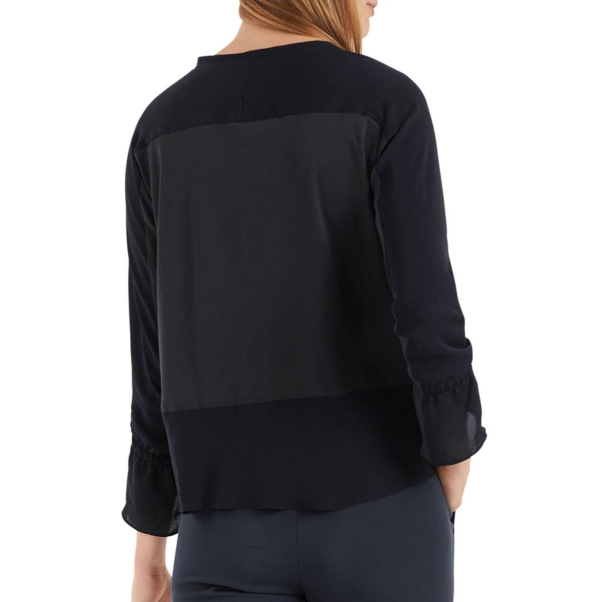 Marc Cain  blouses NC5510 J76 Navy blue by Penninkhoffashion.com