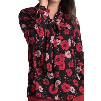 Marc Cain blouses KC5137 W44 red at Penninkhoffashion.com