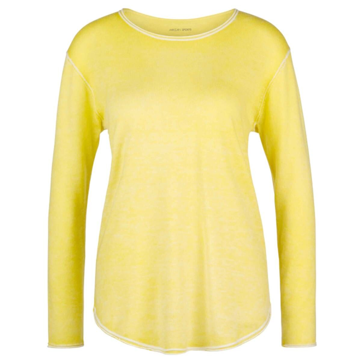 Marc Cain Sports pullovers LS4117 M85 yellow at Penninkhoffashion.com