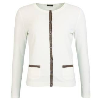 Marc Cain  vests NC3150 M39 Cream White by Penninkhoffashion.com