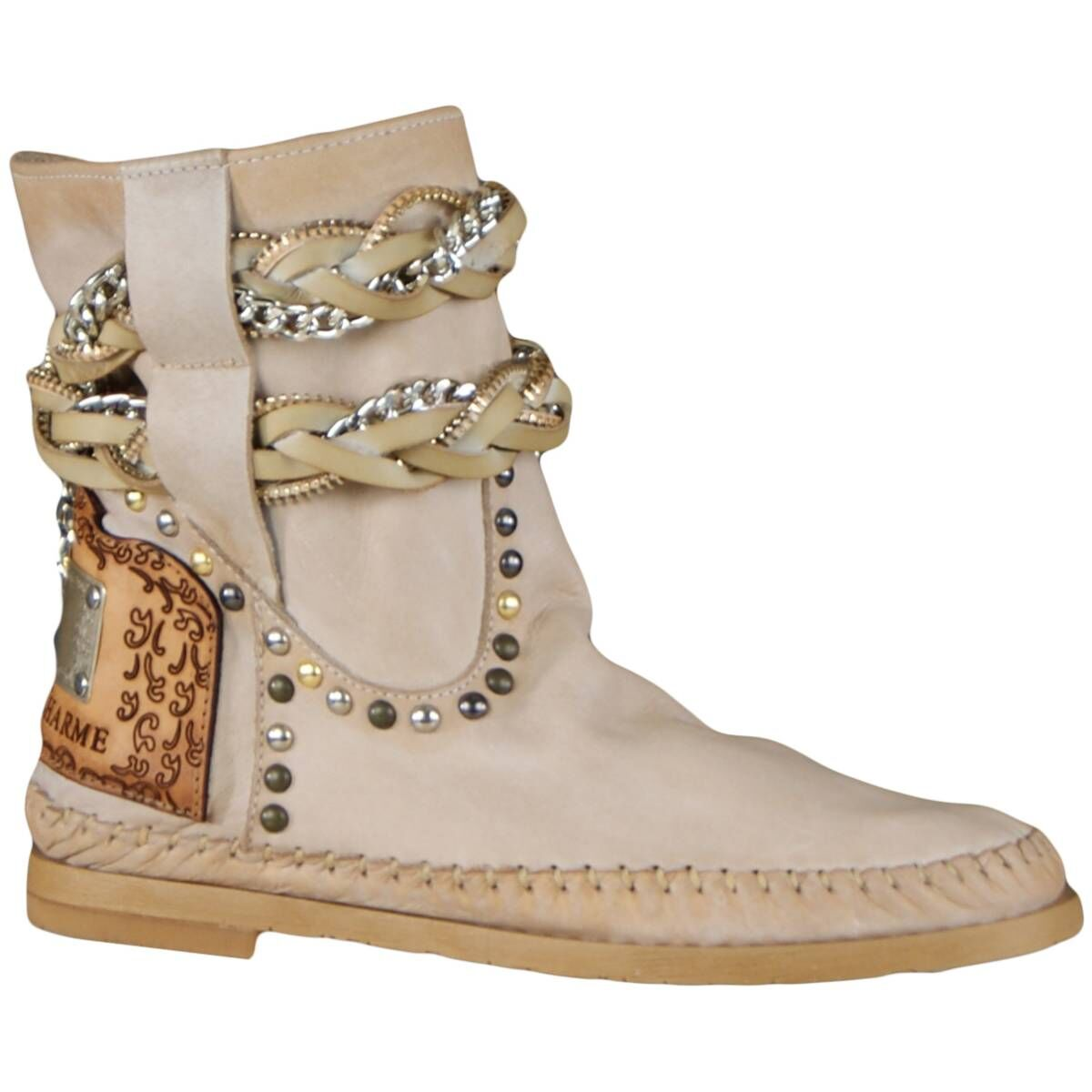 Karma Of Charme Ankle Boots Stra 2 Beige At